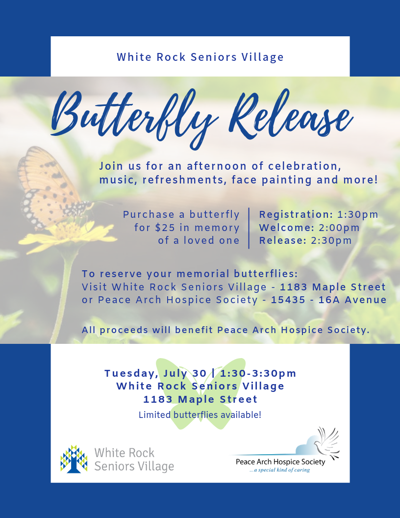 Butterfly Release - Peace Arch Hospice Society