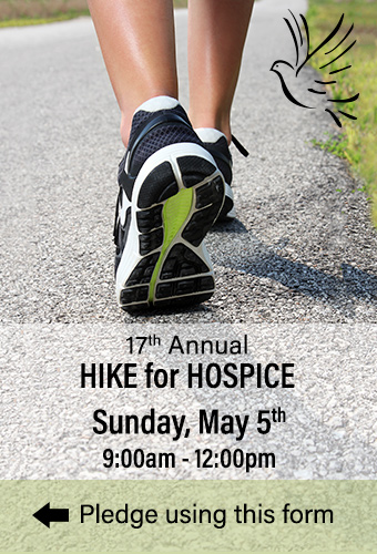 15th Annual Hike for Hospice - Sunday, May 7th 9:00am - 12:00pm