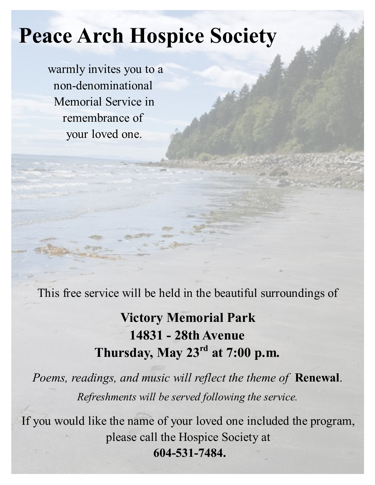 News & Events - Peace Arch Hospice Society